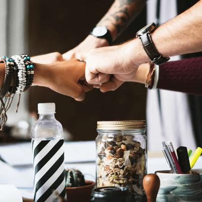 Kracht van samenwerken en de reacties